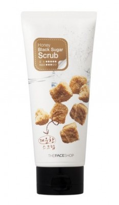 Скраб-пилинг с экстрактом черного сахара THE FACE SHOP Smart Peeling Honey Black Sugar Scrub: фото