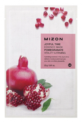 Тканевая маска с гранатом MIZON Joyful Time Essence Mask Pomegranate: фото