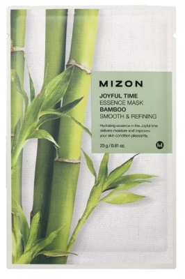 Тканевая маска с бамбуком MIZON Joyful Time Essence Mask Bamboo 23г: фото