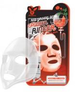 Маска тканевая с красным женьшенем ELIZAVECCA Red Ginseng Deep Power Ringer Mask Pack: фото