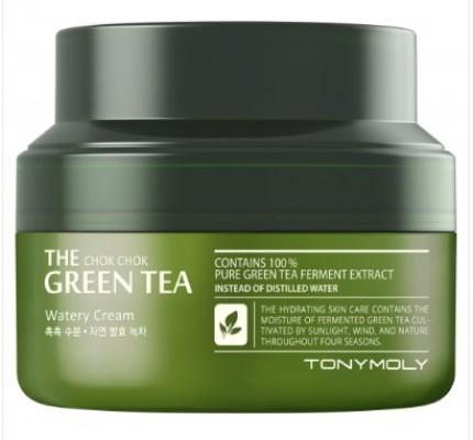 Крем для лица с экстрактом зеленого чая TONY MOLY The chok chok green tea watery cream 60 мл: фото