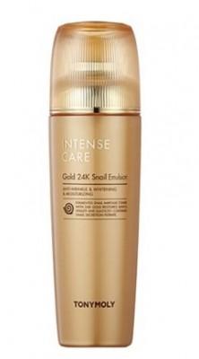 Эмульсия с улиточным муцином и золотом TONY MOLY Intense care gold 24k snail emulsion 140 мл: фото