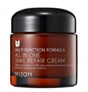 Крем с экстрактом улитки 92% MIZON All in one snail repair cream 75мл: фото