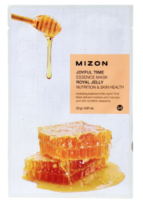 Тканевая маска с маточным молочком MIZON Joyful time essence mask royal jelly 23г: фото