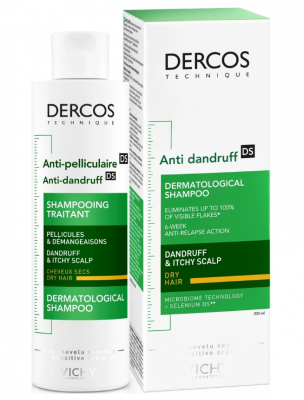 Шампунь от перхоти для сухой кожи головы VICHY Dercos Anti-Dandruff Dry Hair 200мл: фото