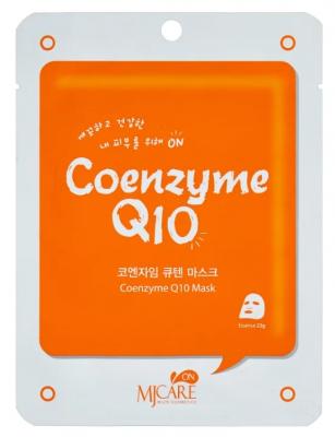 Маска тканевая с коэнзимом Mijin MJ on Coenzyme Q10 mask pack 22г: фото