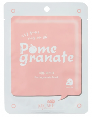 Маска тканевая с гранатом Mijin MJ on Pomegranate mask pack 22гр: фото