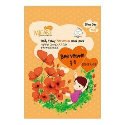 Маска тканевая с пчелиным ядом Mijin Care Daily Dewy Bee Venom Mask Pack 25гр: фото