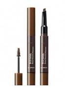 Тушь-карандаш для бровей THE SAEM Eco Soul Brow Pencil & Mascara 02 Natural Brown 0,2гр/2,5мл: фото