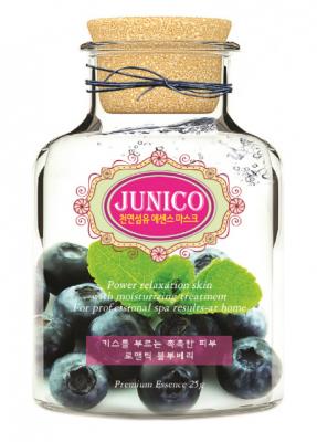 Маска тканевая c экстрактом черники Mijin Junico Blueberry Essence Mask 25г: фото