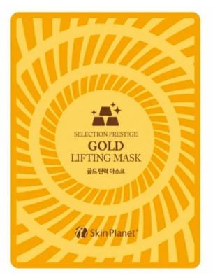Маска для лица тканевая с золотом лифтинг эффект Mijin Skin Planet GOLD LIFTING MASK 25гр: фото