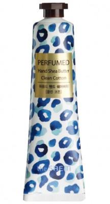 Крем-масло для рук THE SAEM Perfumed Hand Shea Butter Clean Cotton 30мл: фото