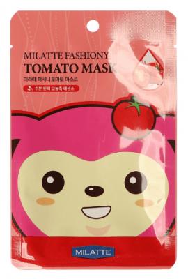 Тканевая маска с экстрактом томата Milatte Fashiony Tomato Mask Sheet: фото