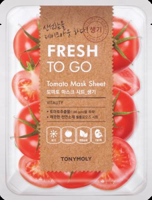 Освежающая тканевая маска для лица с экстрактом томата Tony Moly Fresh To Go Tomato Mask Sheet 20г: фото