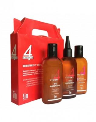 Комплекс от выпадения волос Sim Sensitive System 4 шампунь 100мл, маска 100мл, сыворотка 100мл: фото