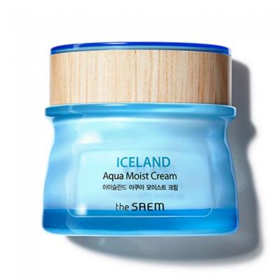 Крем для лица увлажняющий THE SAEM Iceland Aqua Moist Cream 60мл: фото