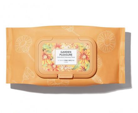 Салфетки очищающие с экстрактом календулы THE SAEM Garden Pleasure Calendula Cleansing Tissue 100шт: фото