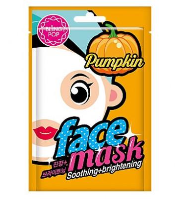 Маска для лица тканевая укрепляющая BLING POP Pumpkin Soothing & Brightening Mask 20мл: фото