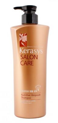 Шампунь питательный для поврежденных волос KeraSys Salon care nutritive600 г: фото
