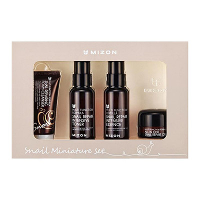 Набор Миниатюр MIZON Snail Miniature Set 30 мл + 50 мл + 50 мл + 15мл: фото