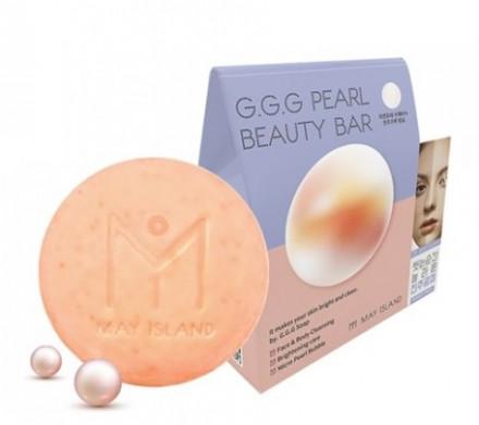 Мыло тосветляющее с жемчугом May Island G.G.G PEARL BEAUTY BAR 100 г: фото