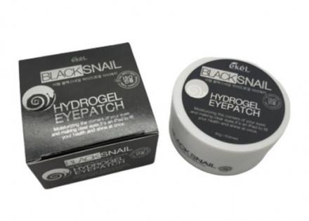 Патчи для глаз с экстрактом улиточного муцина Ekel Eye Patch Black Snail 60 шт: фото