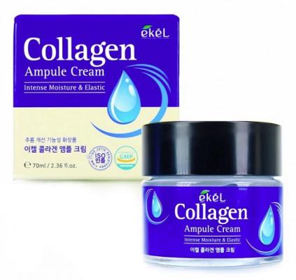 Ампульный крем с коллагеном Ekel Ampule Cream Collagen 70 мл: фото
