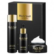 Набор Secret Key Black Snail Original Set: эссенция для лица 150мл + сыворотка для лица 50мл + крем для лица 50мл: фото