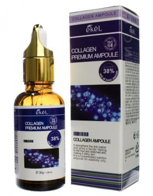 Ампульная сыворотка для лица с коллагеном EKEL Premium Ampoule Collagen 30г: фото