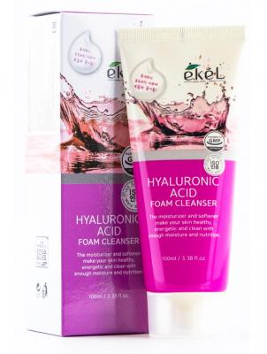 Пенка для умывания с гиалуроновой кислотой EKEL Foam Cleanser Hyaluronic Acid 100мл: фото