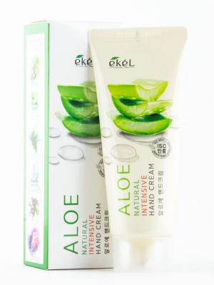Питательный крем для рук с экстрактом алоэ EKEL Aloe Natural Intensive Hand Cream 100мл: фото