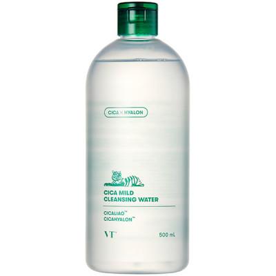Вода очищающая для чувствительной кожи с центеллой VT CICA MILD CLEANSING WATER 500мл: фото