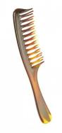 Расческа-гребень для длинных и густых волос с ручкой Titania 20,5см коричневая: фото