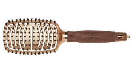 Щетка с керамической поверхностью Olivia Garden Ceramic+Ion Nano Thermic Flex Boar BR-NT1PC-FLBOA: фото