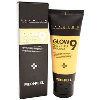Маска-пленка золотая Medi-Peel Glow 9 24k gold mask pack 100мл: фото