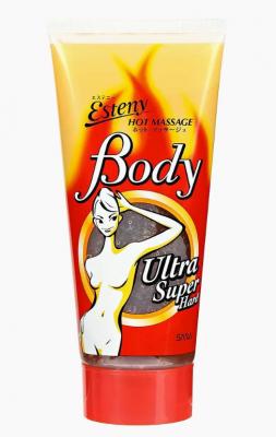 Гель-скраб для тела массажный с морской солью Sana Hot massage body super hard gel 240мл: фото