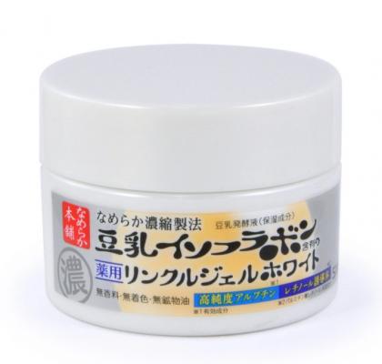Крем-гель увлажняющий и осветвляющий с ретинолом и изофлавонами сои Sana Wrinkle gel cream 100г: фото