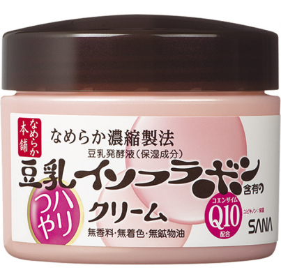 Крем увлажняющий с изофлавонами сои и коэнзимом Q10 Sana Soy milk haritsuya cream 50г: фото