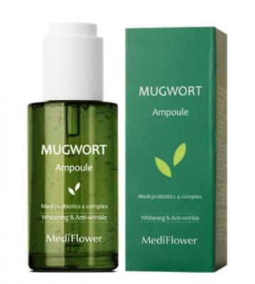 Сыворотка для чувствительной кожи с полынью MediFlower Mugwort ampoule 50мл: фото