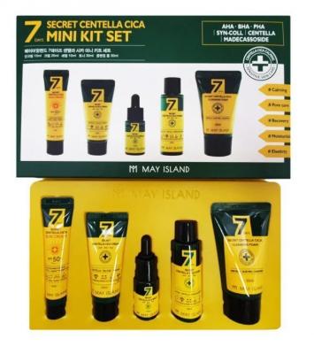 Набор для ухода за проблемной кожей с центеллой May Island Secret centella mini kit set: фото