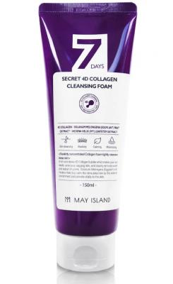Пенка с коллагеном May Island 7 Days secret 4d collagen cleansing foam 150мл: фото