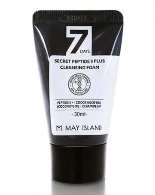Пенка с 8 пептидами May Island 7 Days secret peptide 8 plus cleansing foam 30мл: фото
