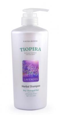 Шампунь растительный для поврежденных волос «лаванда» Laura Rosse Herbal shampoo lavender 510мл: фото