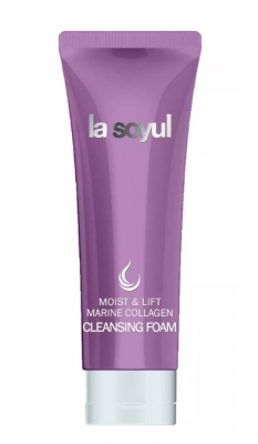 Пенка очищающая с морским коллагеном La Soyul Moist and lift marine collagen 150мл: фото