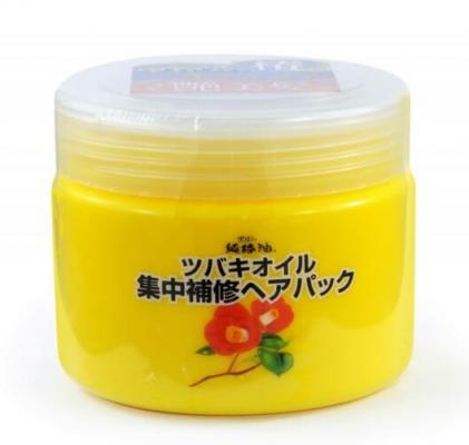 Маска для волос интенсивная с маслом камелии Kurobara Camellia oil concentrated hair pack 300г: фото