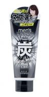 Пенка-скраб с древесным углем и цитрусово-мятным ароматом Kose Men's Softymo facial wash charcoal 130г: фото
