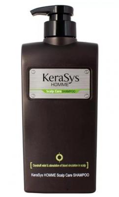 Шампунь мужской для лечения сухой кожи головы KeraSys Homme scalp care 550мл: фото