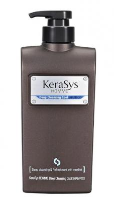 Шампунь мужской освежающий KeraSys Homme deep cleansing cool 550мл: фото