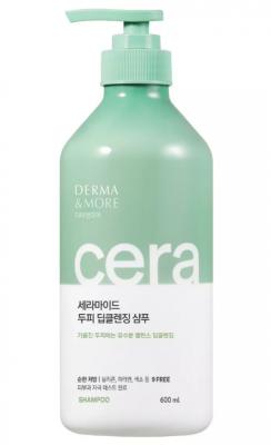 Шампунь для волос Глубокое очищение KeraSys Derma&more cera deep cleansing 600мл: фото