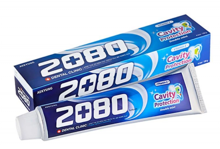 Зубная паста Натуральная мята KeraSys Dental clinic 2080 double mint 120г: фото